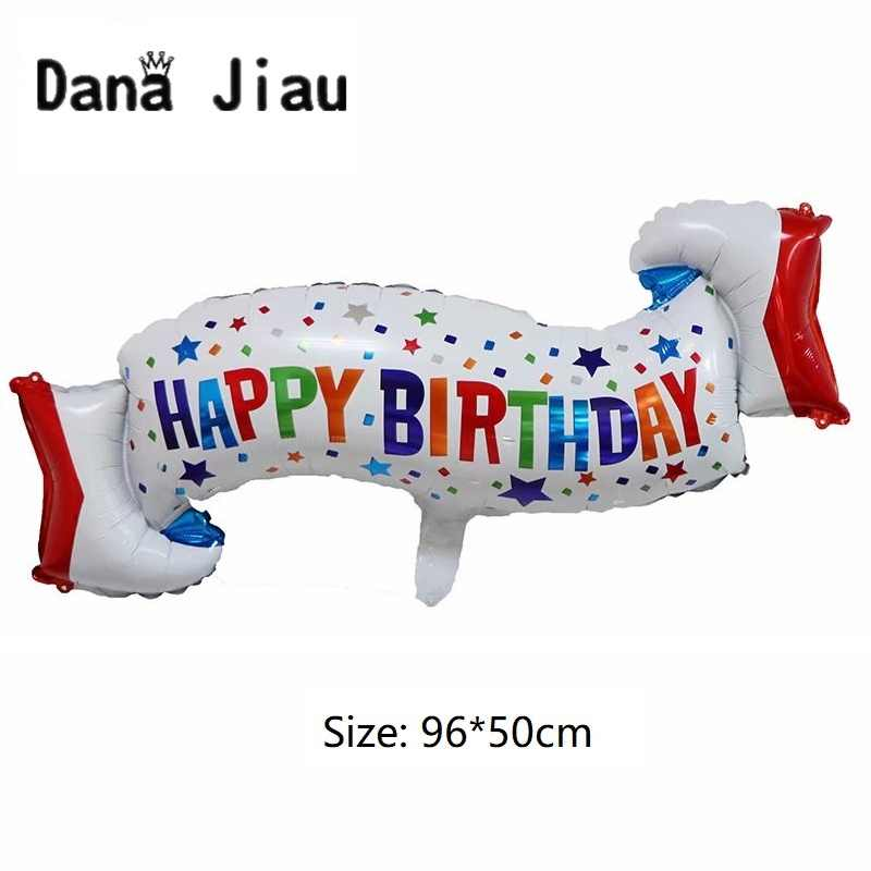 Dana jiau Happy Birthday Party zipper foil balloons gold crown champagne wine cup Whiskey Bottle Balloon 20 years old decora