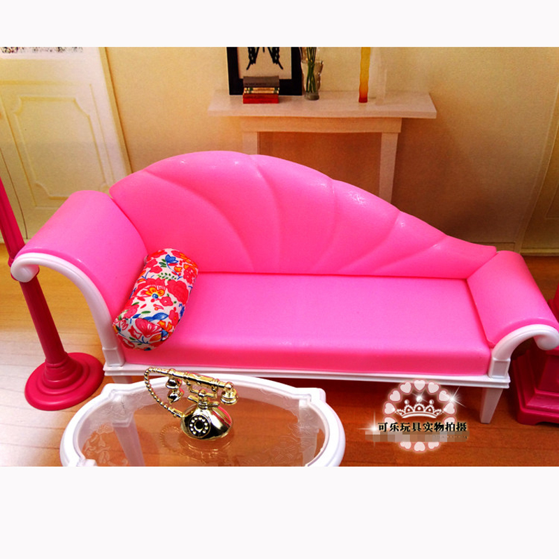 DIY Plastic Dollhouse Living Room Sofa + Table + Lamp Furniture ...