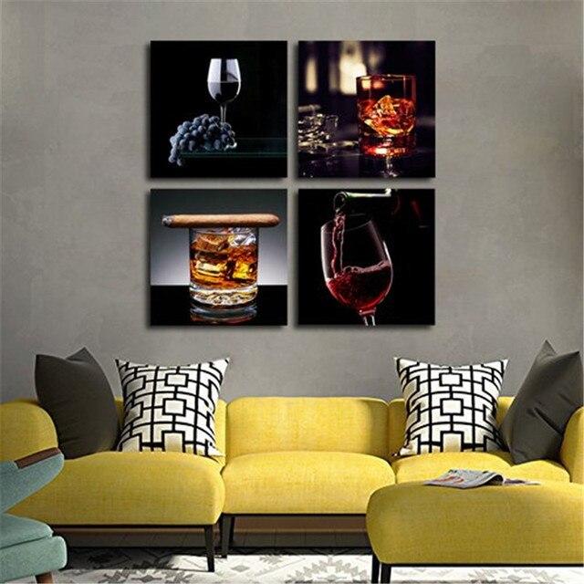 Gut gemocht Vin Avec Cigare Impressions Sur Toile Moderne Peinture Mur Art  NI87