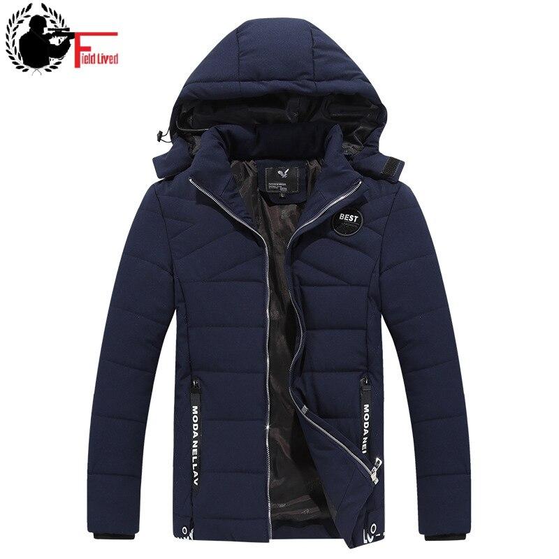 Winter Men Jacket Short Overcoats Men Kepi Detachable Hood Jacket   Parka   Men Roupas Male Thick Warm Coat 2019 New Clothes Youth