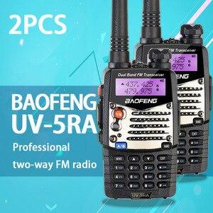 Image 2 - (2 PCS) Baofeng UV5RA חם שתי דרך רדיו מכשיר קשר להקה כפולה משדר (שחור)