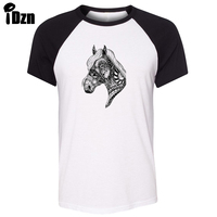 IDzn Unisex Summer T Shirt Ornate Unicorn Horse Elephant Tiger Dragon Art Pattern Raglan Short Sleeve