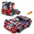 608 pcs Corrida de Caminhão Do Carro 2 Em 1 Modelo de Construção Transformável Conjuntos de blocos de construção Decool 3360 DIY Brinquedos Compatíveis Com Técnica Legoe 42041