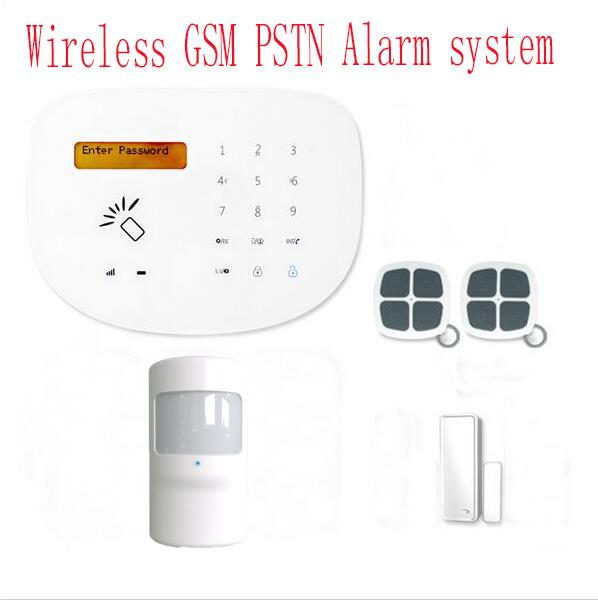 jianshu LCD display Touch keypad GSM alarm system Wireless PIR Motion Sensor  Remote Controller protection home