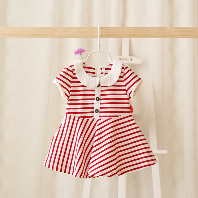 8f2b48386a 2016 summer new children's dresses infant striped dress baby girl princess  dresses for newborn clothes girl tutu dress baby-in Dresses from Mother &  ...
