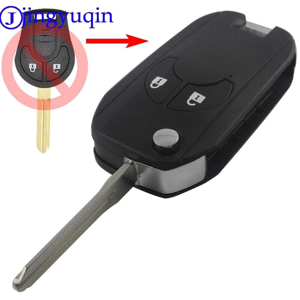 Jingyuqin 2 Button Smart Flip Folding Remote Car Key Case
