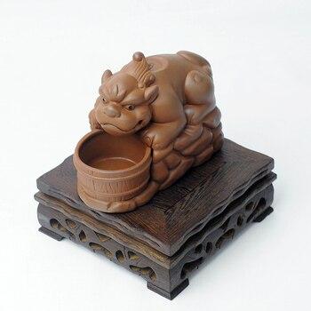 Creative ceramic incense burners aromatherapy furnace evil purple brave back lucky place incense base