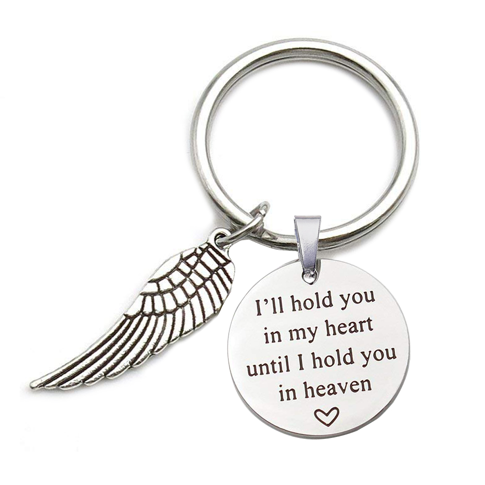 Memorial Piece of My Heart is in Heaven Inspired Gifts Keyring