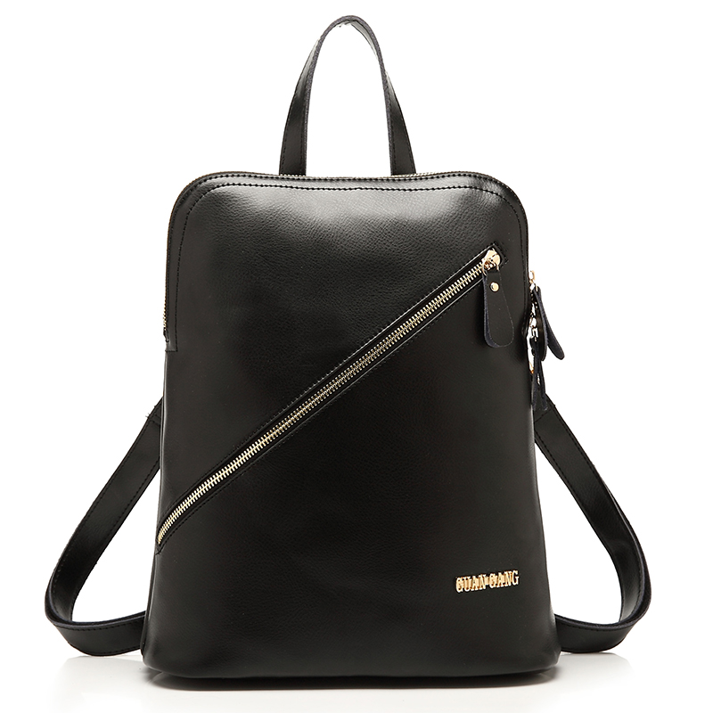 ФОТО Women leather backpack  women school bag European and American fashion College Style high quality