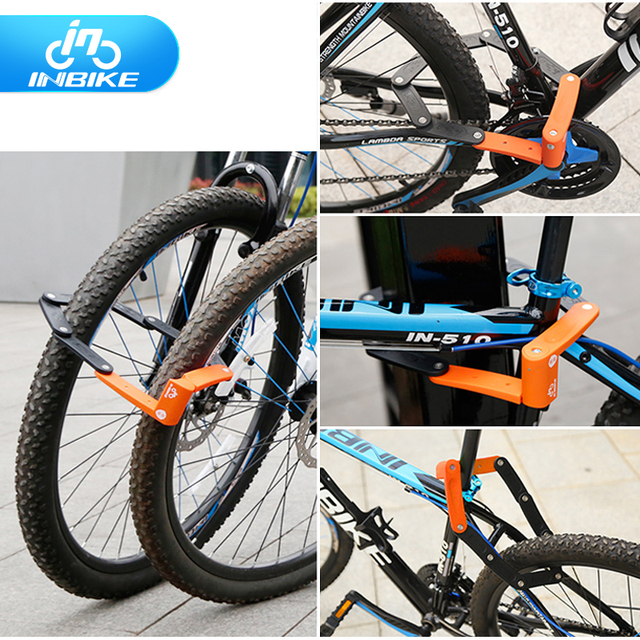 folding bicycle lock bike Lock alloy steel foldable chain lock security motorcycle   Anti-theft lock 12ton Anti-hydraumatic
