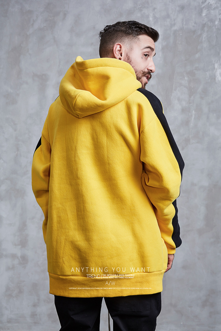Aolamegs Hoodies Men Side Striped Hood High Street Pullover Cotton Fashion Hip Hop Streetwear Casual Big Pocket Hoodie Autumn (12)