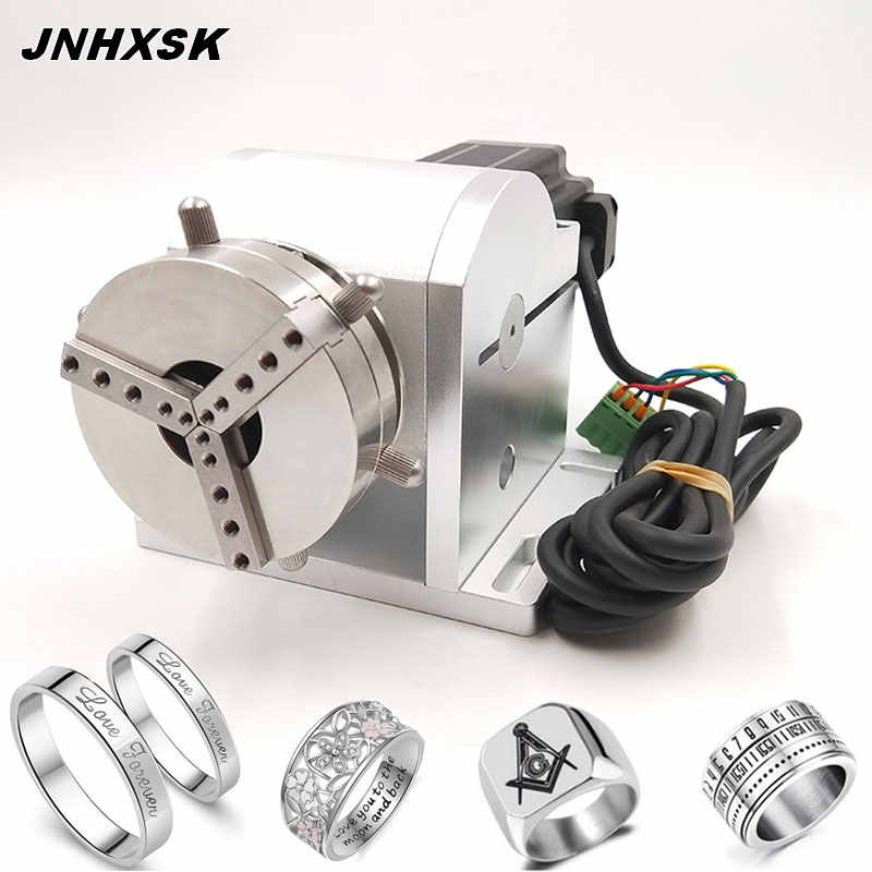 JNHXSK Fiber Laser-markering Machine Speciale Rotary Armatuur Rotary As/ring sieraden markering draaitafel as
