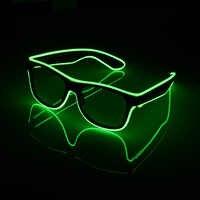 Partido fresco Decorativo Gafas Luminosas Intermitentes EL Cable de LED Gafas de Iluminación Clásico Regalo Fuentes Del Partido Del Festival de Luz Brillante