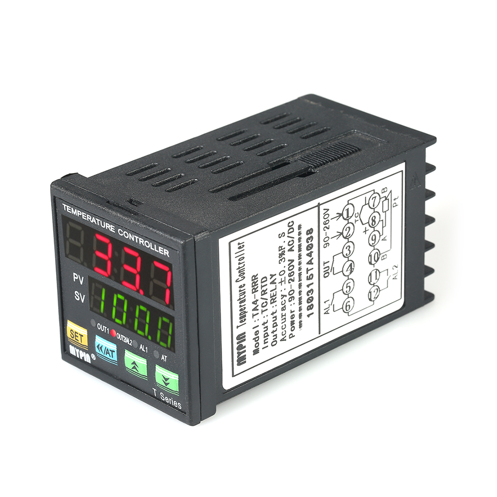 Automatic Universal Digital Programmable Temperature Controller LED PID Thermometer RRR 2 Alarm Relay Output TC RTD Input universal input pc programmable temperature head transmitter 4 20ma analouge output tmt902b