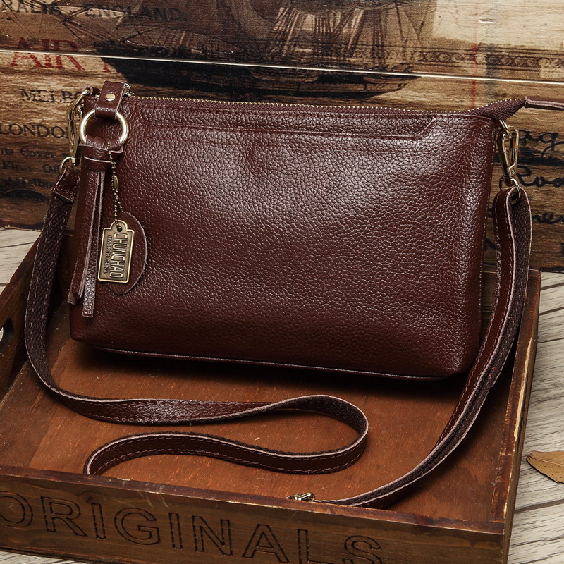 Factory Outlet Leather Messenger Bag 2019 New Fashion Bag Casual Small Party Bag