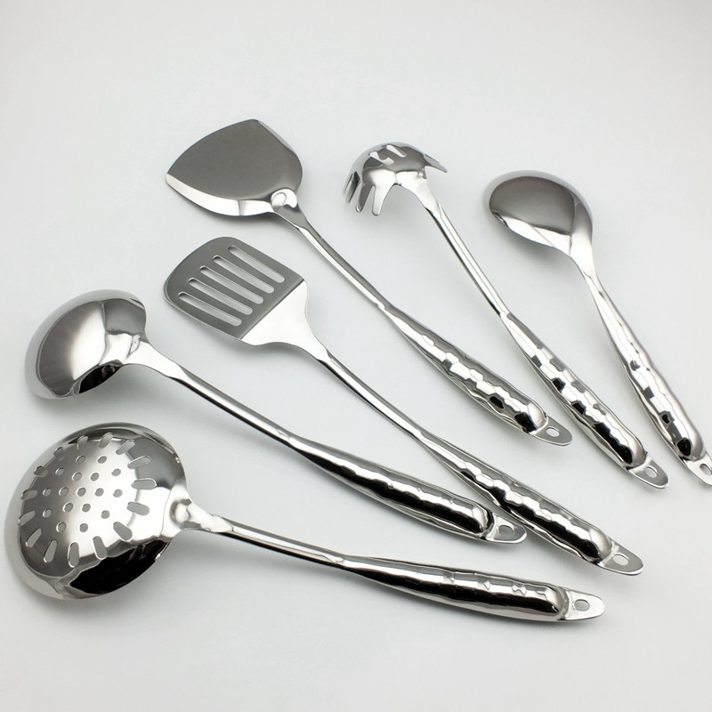 Cutlery Set Stainless Steel Scoop Set Spatula Shovel Scoop Dinnerware Set Kitchenware Spoon Cooking Tools Cooking Tool 6pcs/set - 4
