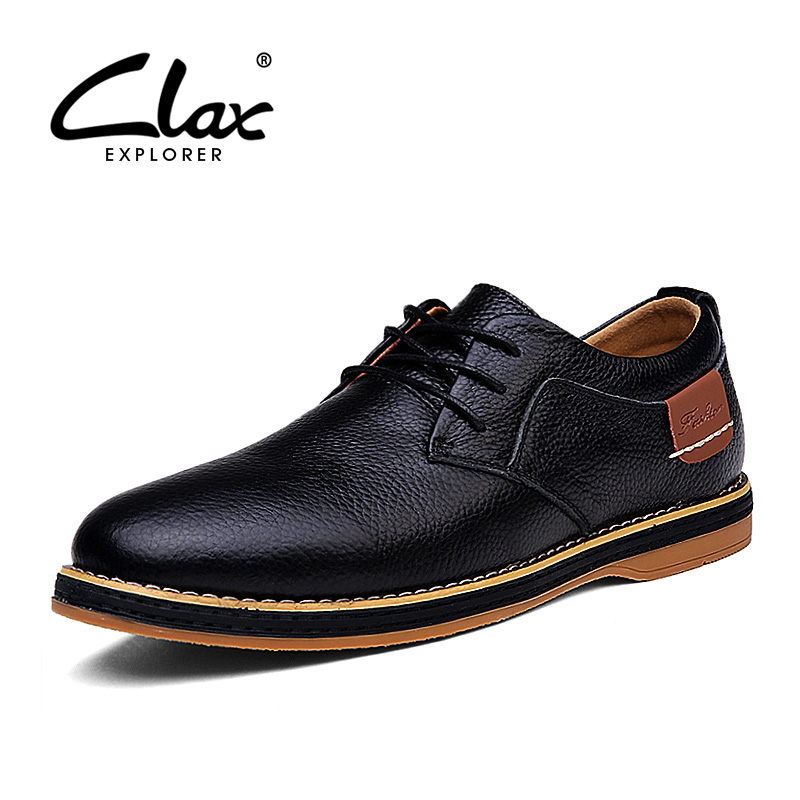 Clax Mens Oxfords Shoes Spring Autumn Man Casual Leather Shoe Classic British Style Elegant Shoes Male Designer Brand Retro Shoe british style men real leather brouge shoes boys new spring zip retro casual shoes craved wing tips flat man oxfords