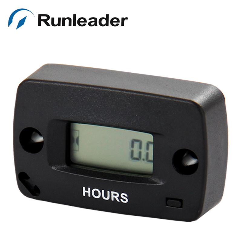 Free Shipping Resettable Moto Monitor Hour Running Meter HOUR METER for Pit Bike Quad Ski motorcycle marine jet boat Snowmobile