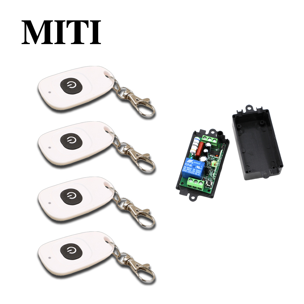 Top 110V 220V RF Wireless Remote Control Switch Transmitter&Receiver 1CH for Light/LED/Lamp Applicance Toggle Momentary Latched wireless switch rf wireless remote control switch system 3 transmitter 4 receiver switch 12v 10a 1ch toggle momentary latched