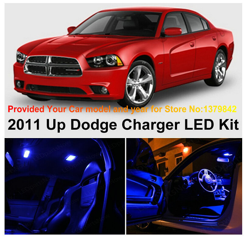 Us 15 89 34 Off Free Shipping 6pc Led Lights Car Styling Hi Q Interior Package Kit For Dodge Charger 2011 Up In Signal Lamp From Automobiles