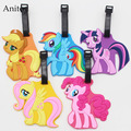 My Cute Lovely Little Horse Poni creative silicone Girl luggage tag pendants Kids hang tags KT2711