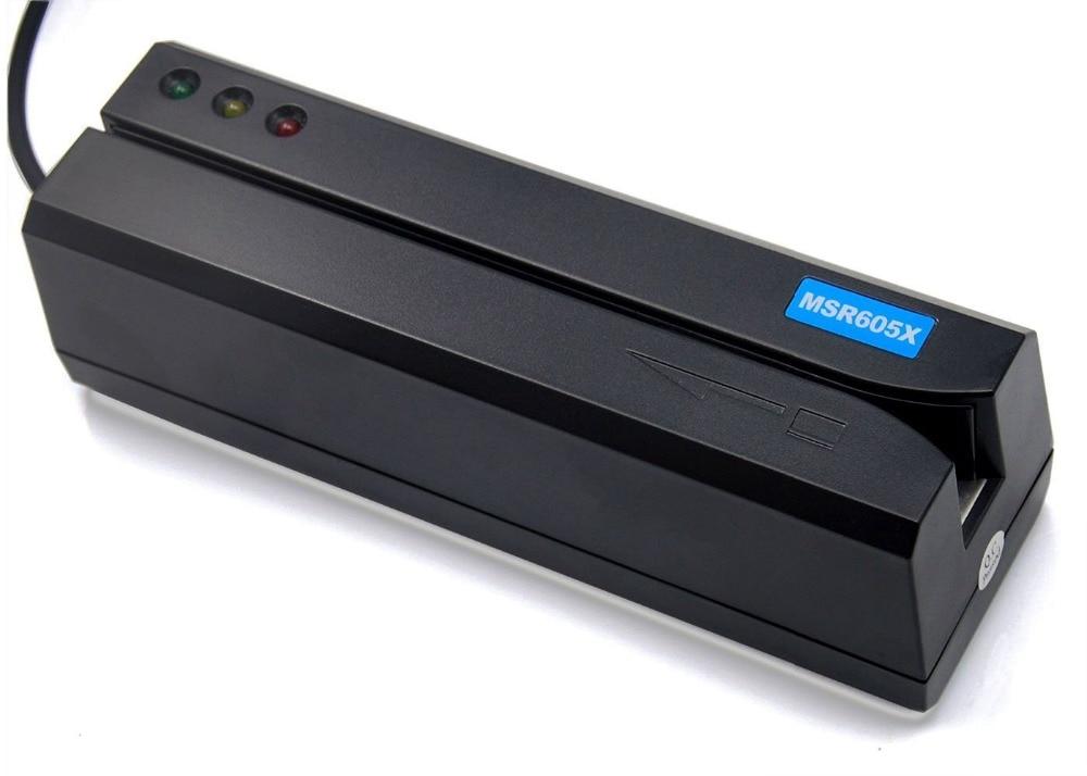 Nouveau MSR605X USB carte magcard lecteur écrivain sans Puissance adaptateur compatible MSR606i msr605 msr x6 msr900 msrx6bt - 2