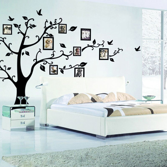 3D DIY Photo Arbre Wall Sticker PVC Stickers Muraux Adhésif Décoration  Stickers Muraux Chambres Du0027