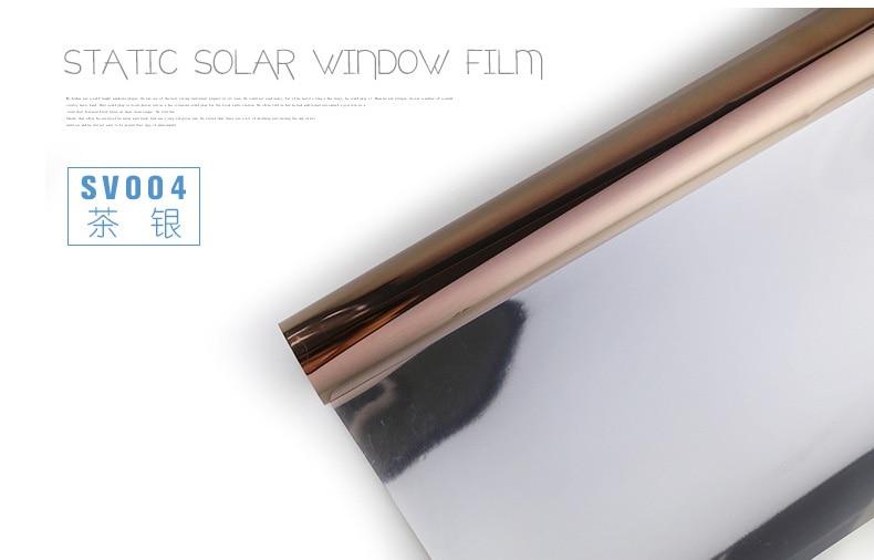 90 cm x 500 cm PET économie d'énergie solaire fenêtre film, une façon film de La Vie Privée, contrôle de La Chaleur Anti UV Décoratif Feuille, Statique S'accrochent Aucune colle - 5