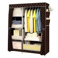 Современный простой шкаф из нетканого полотна Многофункциональный сборочный Шкаф DIY пыленепроницаемый шкаф домашняя мебель