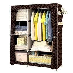 Armario moderno Simple de tela no tejida armario multifunción DIY armario con montaje necesario armario a prueba de polvo muebles para el hogar