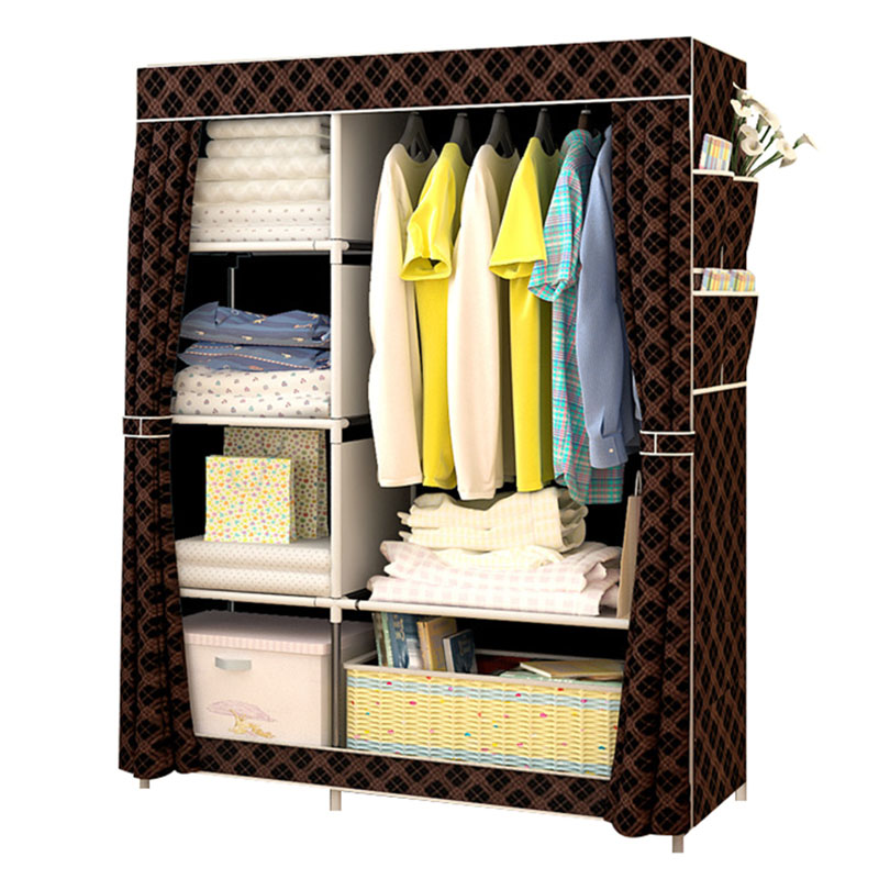 Modern Simple Non-woven Cloth Wardrobe Multi-function DIY Assembly Wardrobe Dust-proof Closet Home Furniture