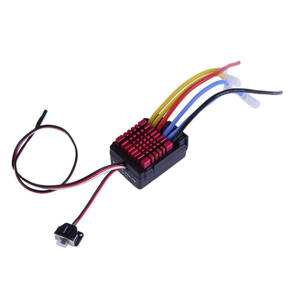 все цены на  1pcs Original Hobbywing QuicRun Dual Brushed Waterproof 60A ESC For 1:8 RC Car  онлайн