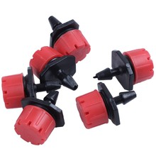 TOP!-500Pcs/Pack Red Adjustable Dripper Emitter On Barb For Micro- Drip Irrigation Plant Flower Watering Sprayer N109(China)