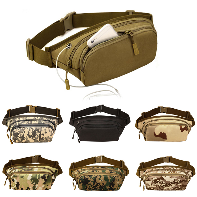38d04e9783f8 Protector Plus Tactical Waist Pack Bag Military Fanny Packs Waterproof Hip  Belt Pouch for Outdoor Hunting