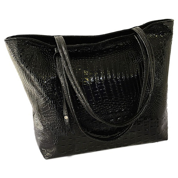 PU Crocodile Faux Leather...