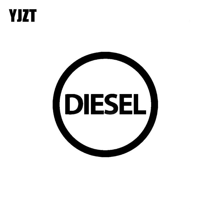 YJZT 10CM*10CM Fashion DIESEL Vinyl High-quality Decal Car Sticker Black/Silver Car-styling C11-0668