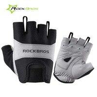 Rockbrosฤดูร้อนครึ่งนิ้วถุงมือขี่จักรยานU Nisexกีฬาระบายอากาศถุงมือสั้นฟองน้ำ