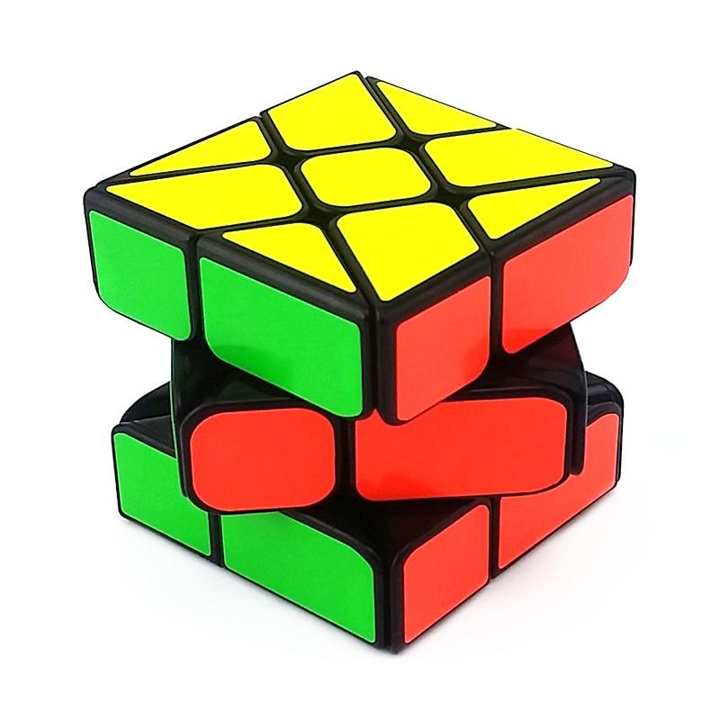 Brandnew 2x2 Magic Irregular Cube ABS Professional Cube Speed Twist Puzzle Black