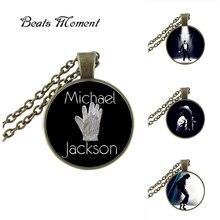 2017 New Arrival Zinc Unisex Vintage Collares Collier Michael  Pendant Necklace Glass Long Necklaces Chain For FansHZ1
