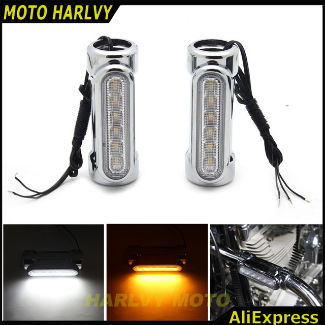 US $46 44 5% OFF|Aliexpress com : Buy For Victory Harley Road King Street  Glide Softail Fat Boy Motorcycle Highway Bar Switchback Turn Signal Light