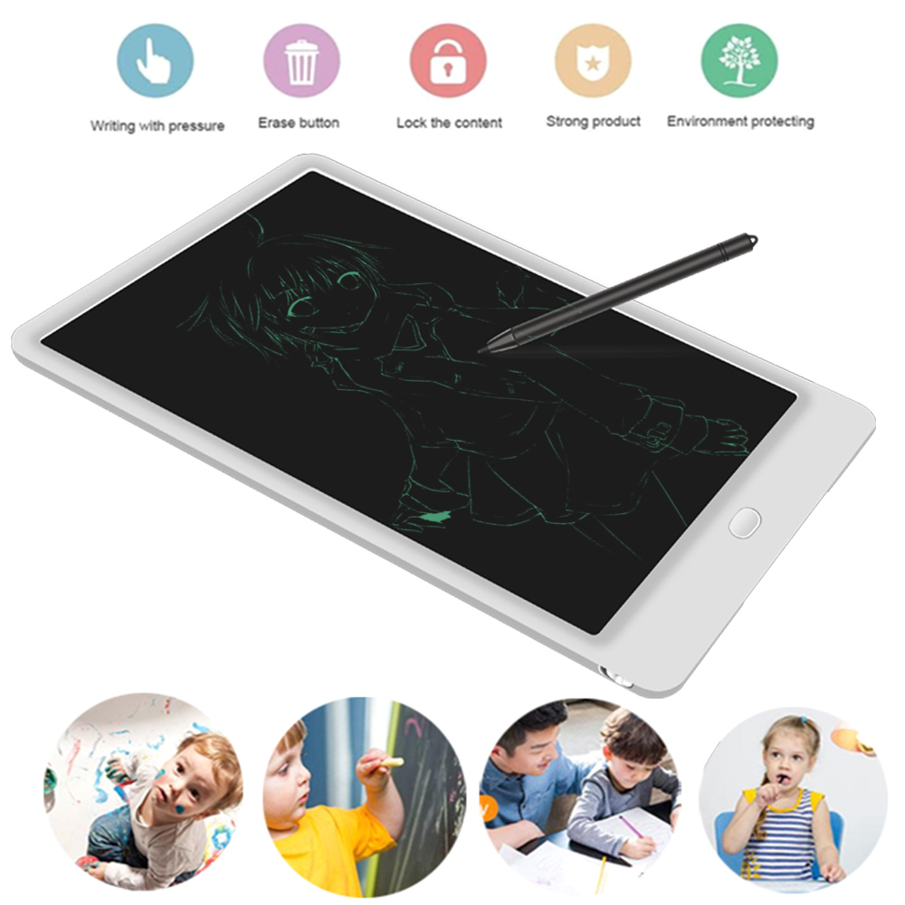 10 Inches Writing Tablet Graphics Tablet with Stylus Drawing Board Graffiti Board Notepad Portable LCD Tracing image