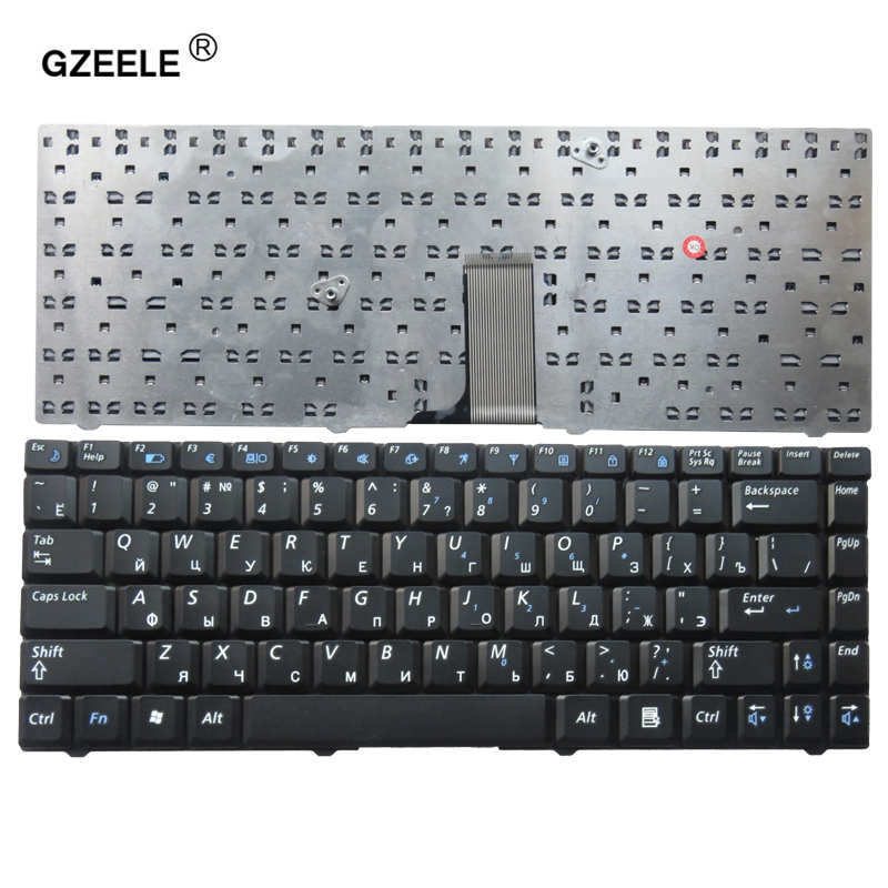 GZEELE New Notebook Laptop keyboard for SAMSUNG NP R519 R519 R517 Black Russian RU version   V020660AS1 RU-in Replacement Keyboards from Computer & Office on