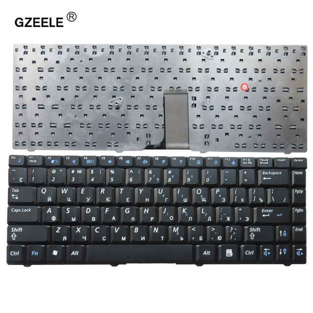 GZEELE New Notebook Laptop keyboard for SAMSUNG NP R519 R519 R517 Black Russian RU version   V020660AS1 RU