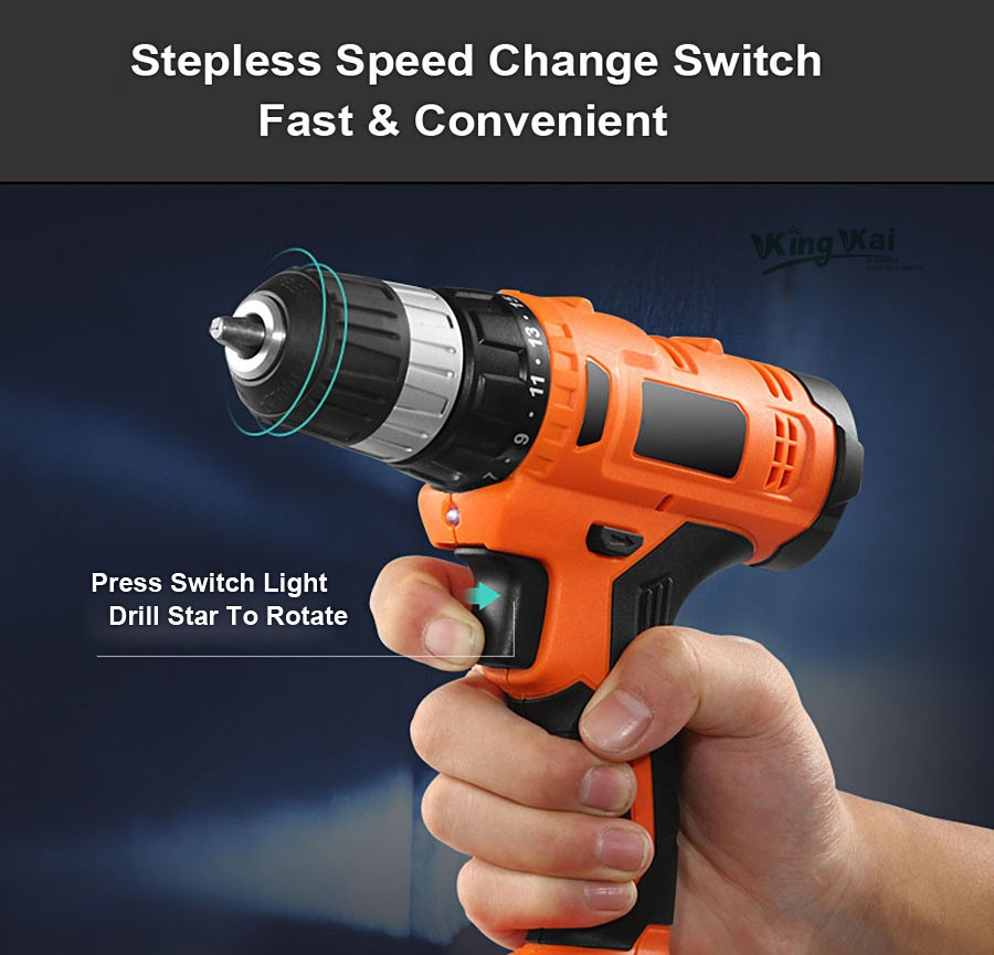 Cordless Lithium Battery Electric Drill-19