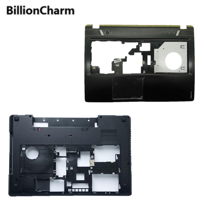 BillionCharm New For Lenovo For ideapad Y580 Y580A Y580N Y585 Bottom Case Base Cover TV interface/Palmrest Upper case cover