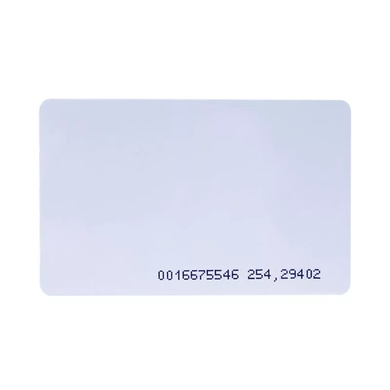 Low Frequency 125khz T5577/TK4100/EM4300 Hard Plastic Clear Transparent Rfid Name Card