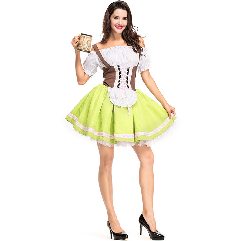 Hot Fashion German Beer Girl Costumes Sexy Halloween Maid Costumes Women Oktoberfest Costumes Carnival Costumes