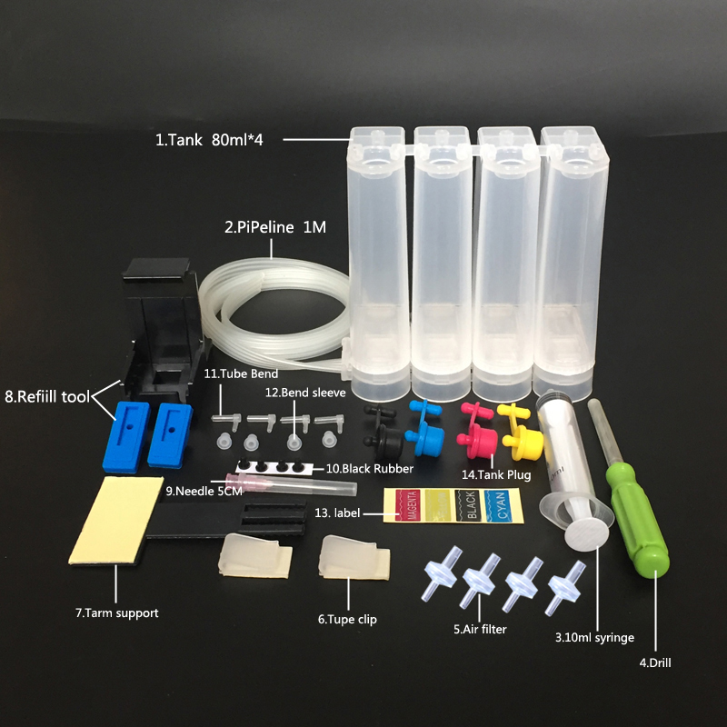22 Awesome Diy Kit Ideas: Universal DIY CISS Kit 4color CISS Ink Tank Accessories