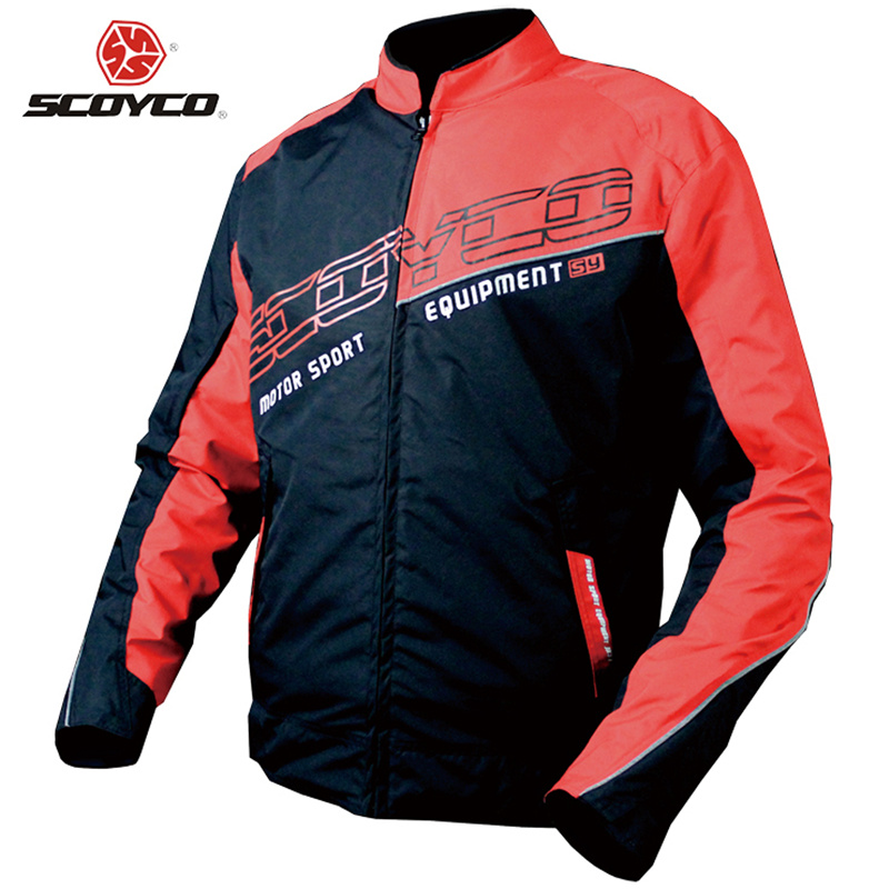 SCOYCO Motorcycle Jacket Sports Clothing Windproof Reflective Fabric Motorbike Motocross Off-Road Touring Riding Jacket jk31 scoyco motorcycle riding knee protector extreme sports knee pads bycle cycling bike racing tactal skate protective ear