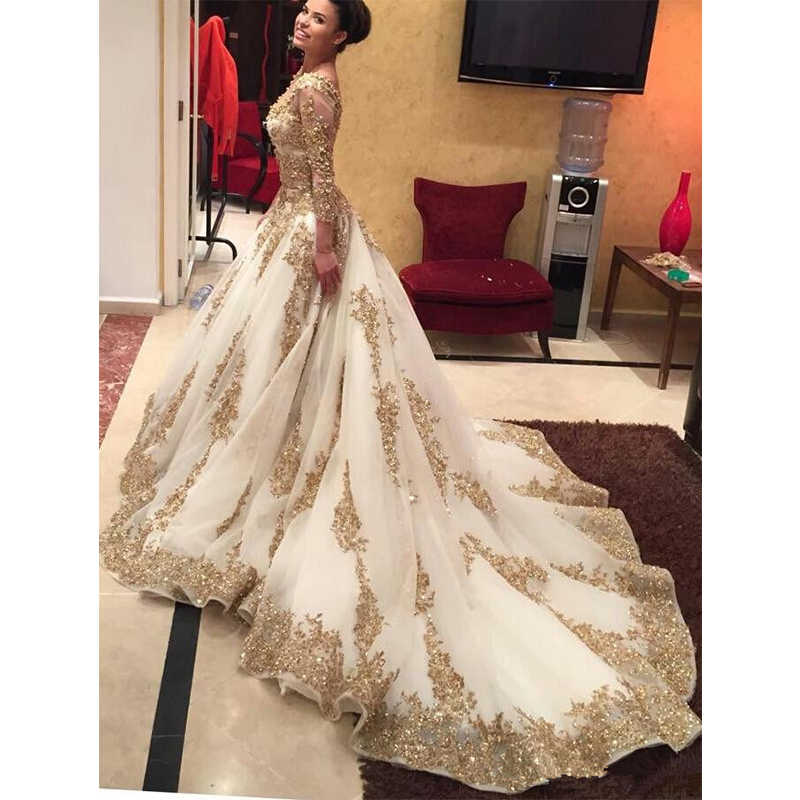 ... Two Pieces Muslim Prom Dresses Saudi Arabic Style Long Sleeve Evening  Gowns 2016 Luxury Ball Gown ... ac86e7925df0